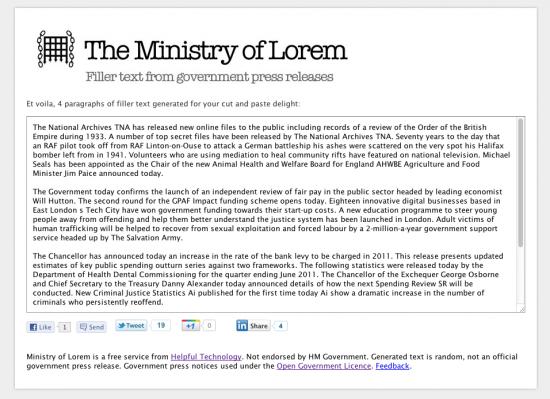 Ministry of Lorem