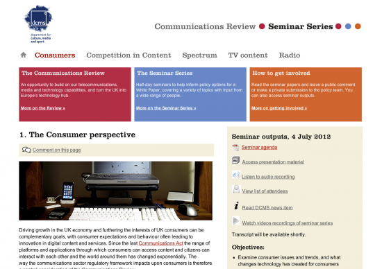 Comms Review site