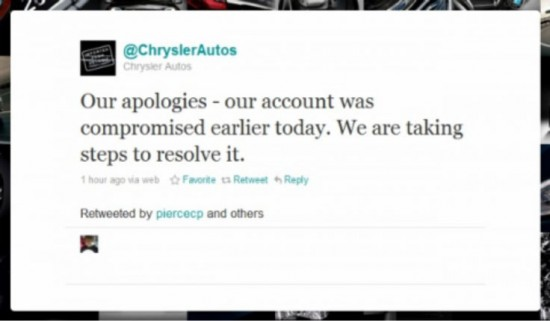 chrysler tweet