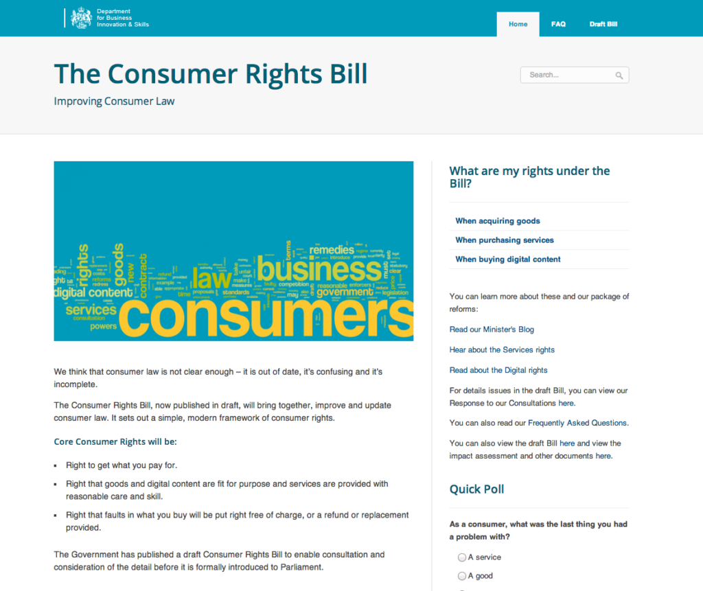 BIS Consumer Rights site
