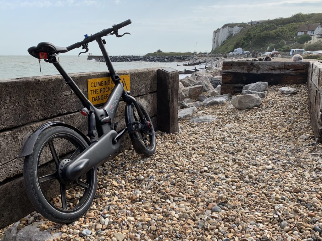 My bike, on a beach near Deal